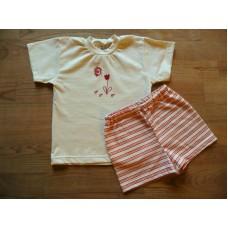 Pyžamo letní kytičkové vel. 122